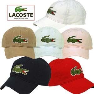 ラコステ キャップ 帽子 CAP メンズ ビッグロゴ べ−スボールキャップ ゴルフ アウトドア Lacoste 送料無料|yumesse