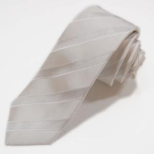 白ネクタイ シルバーラメ入り ストライプ柄 結婚式 フォーマルに使える ホワイトネクタイ 送料無料 ネコポス発送のみ|yumesse