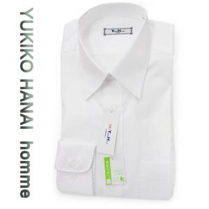 ワイシャツ 長袖 形態安定 メンズ ビジネスシャツ 綿100% カッターシャツ YUKIKO HANAI(ユキコ ハナイ)|yumesse