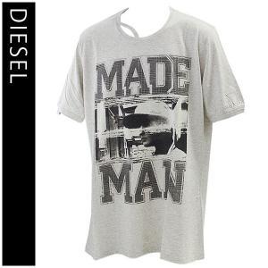 ディーゼル (DIESEL) Tシャツ 半袖 メンズ カジュアル 丸首 T-COLORADO-RS T-SHIRT 00S10K-00DFM-98S|yumesse