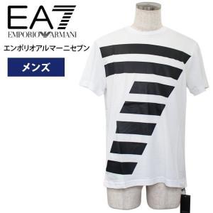 エンポリオアルマーニ Tシャツ 半袖 メンズ エアセッテ EA7 2018年夏新作 綿100% EMPORIO ARMANI 3ZPT86 PJM9Z 1100|yumesse