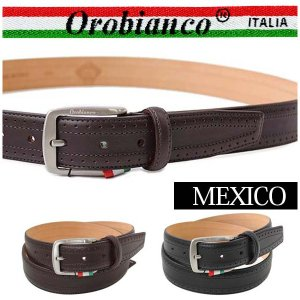 オロビアンコ ベルト レザーベルト ピンバックル メンズ OROBIANCO MEXICO 送料無料|yumesse