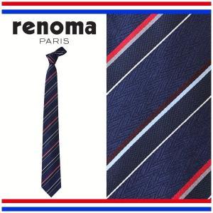 レノマ ネクタイ レギュラータイ ストライプ シルク100% renoma RE17S2A|yumesse