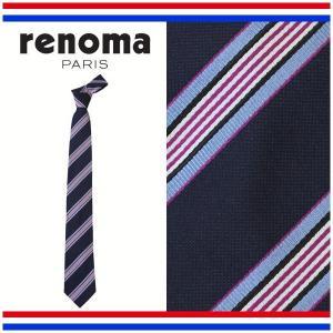レノマ ネクタイ レギュラータイ ストライプ シルク100% イタリア製 renoma RE17S4B|yumesse