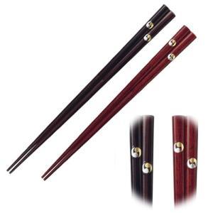 一双 めでた箸 二つ巴 ペア (新築・引越し祝い) 38411 【夫婦箸】