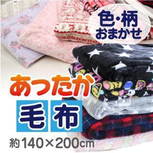 【色・柄おまかせ】 あったか毛布 シングル 約140×200cm マイクロファイバー 毛布 丸洗いOK ブランケット 送料無料|yumeyayumeya
