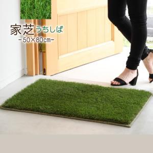 芝 マット 50×80cm 日本製 家芝 防音 防炎 手洗いOK 玄関マット ルームマット