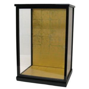 黒桑40 ガラスケース 人形ケース(黒塗)間口30cm 奥行き24cm 高さ40cm(内寸) yumitoningyou