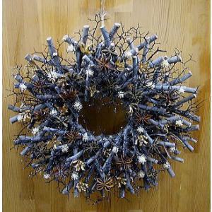 クリスマスリース飾り:シラカバサンゴキラキラ yummy