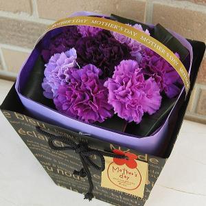母の日のプレゼント サントリーの青色カーネーション ムーンダスト8本の花束:フルカラーミックス ブーケインバッグmothersday0512|yummy