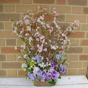 お家でお花見・幸せ色の桜のフラワーアレンジメント|yummy