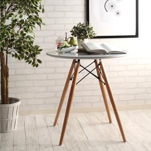 イームズチェア ラウンドテーブル(ダイニング テーブル 北欧 円形テーブル 木脚 センターテーブル(代引不可)|yumugiya