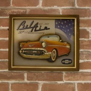 (即日発送)アメ車好きの方に アンティークボード Chevrolet BelAir|yumugiya