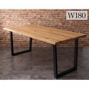 オーク無垢材ヴィンテージデザインワイドサイズダイニング Lepus レプス ダイニングテーブル W180 yumugiya