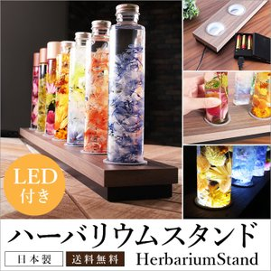 ハーバリウムスタンド 70cm LED照明付き 化粧板PB材 ブリック型収納  LEDインテリア 幅70cmX奥行9cm ボトル型4.5cm対応|yumugiya
