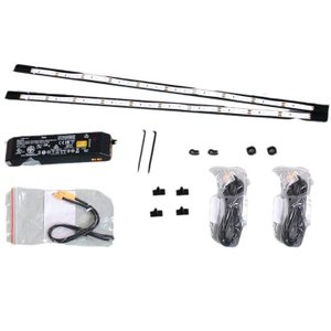 90横LED2本電源付セット(コレクションラック/ロータイプ・ハイタイプ共用) (送料無料)  コレクションボード用/棚/フィギュア/コレクションケース led yumugiya