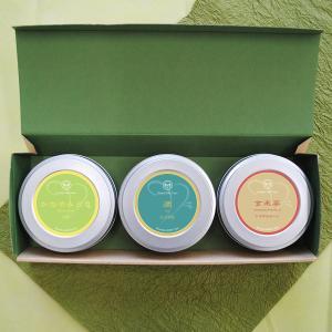 お茶 緑茶 茶葉 煎茶かなやみどり・かぶせ茶やぶきた・玄米茶セット 静岡茶 お茶の葉 2019 プレゼント|yunoha