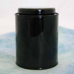 茶筒 茶缶 サークル缶 黒 内容量 約100g 缶 おしゃれ モダン|yunoha