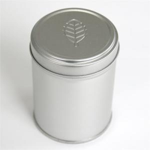 茶筒 茶缶 中蓋付き プチ缶 レリーフ 内容量 約40g 缶 おしゃれ モダン|yunoha