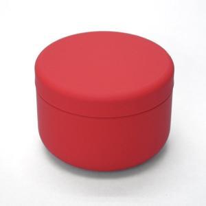 小物入れ プチ缶 レッド 直径6.4cm×高さ4.5cm 缶 ミニ缶 おしゃれ モダン|yunoha
