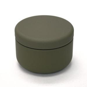 茶筒 茶缶 おしゃれ モダン プチ缶 オリーブ 内容量 約20g 缶|yunoha