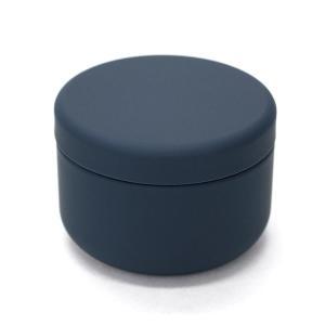 茶筒 茶缶 おしゃれ モダン プチ缶 ネイビー 内容量 約20g  缶|yunoha