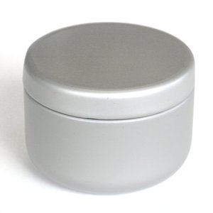 茶筒 茶缶 おしゃれ モダン プチ缶 シルバー 内容量 約20g 缶|yunoha