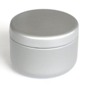 小物入れ プチ缶 シルバー 直径6.4cm×高さ4.5cm 缶 ミニ缶 おしゃれ モダン|yunoha
