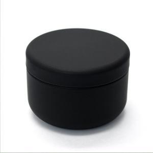 小物入れ プチ缶 ブラック 直径6.4cm×高さ4.5cm 缶 ミニ缶 おしゃれ モダン|yunoha