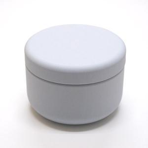お茶筒 茶缶 おしゃれ モダン プチ缶 ホワイト 内容量 約20g 缶|yunoha