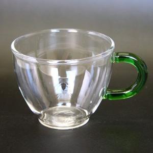 茶器 ガラス カップ 湯呑み 耐熱 翠 約90cc|yunoha