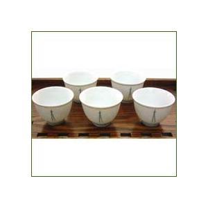 玉露・煎茶用湯呑み 松葉茶碗 約40cc 5客セット 茶器|yunoha