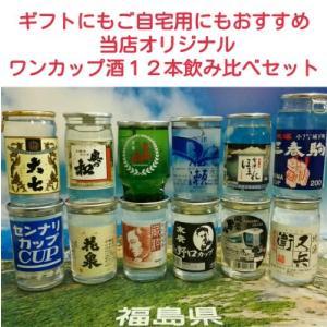 日本酒 飲み比べセット 福島の地酒 ワンカップ酒 12本セット|yunokawa