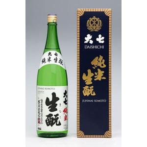 大七 純米生もと(箱入り)純米酒 1800ml×1本|yunokawa