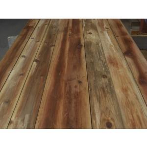 杉板 ウッドデッキ材 ヒットミス(削り残し)、反り、シミによる 二等材 2メートル×27mm×100mm 10枚組|yunoki|05