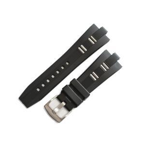 「ブルガリ(BVLGARI)向け」輸入王オリジナル ディアゴノ DP45用 ベルト ラバー ブラック 26mm 社外品 メンズ 腕時計用|yunyuuoh