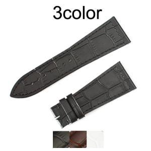 「フランクミュラー(FRANCK MULLER)向け」輸入王オリジナル ロングアイランド 5850 / 1000 / 1200 用 ベルト 型押しクロコ 社外品 メンズ 腕時計用 1100 1300