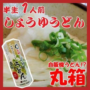 ポイント消化 讃岐うどん 丸箱 しょうゆうどん 1人前 つゆ付 yurakuya-udon