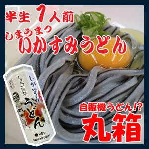 ポイント消化 讃岐うどん 讃想 いかすみうどん 1人前 丸箱 つゆ付 yurakuya-udon
