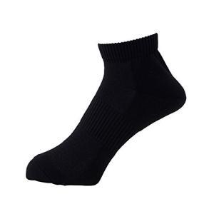 [ミドリ安全] 靴下 高耐久 抗菌 防臭 強フィットソックス ショートタイプ TFS-02 メンズ ブラック 24.0~27.0 cm yurando1112