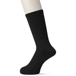 [ミドリ安全] 靴下 高耐久 抗菌 防臭 強フィットソックス レギュラータイプ TFS-01 メンズ ブラック 24-27cm yurando1112