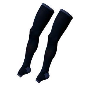 着圧ソックス メンズ 脚すっきり対策 ふとももまで LONG (M-L) 順天堂大学客員教授推奨|yurando1112