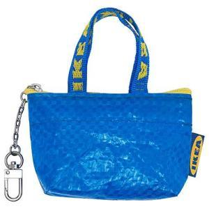IKEA イケア KNOLIG クノーリグ バッグ ブルー S サイズ キーチェーン ジッパー付 小銭入れ 404.287.74 40428774 yurando1112