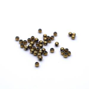 ヘマタイト 30粒 極小 イエローゴールド系 2mm パーツ 天然石 素材 材料 ビーズ|yusa-jewelry