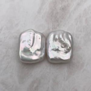 訳あり 淡水パール レクタングル 超大粒 スクウェア 長方形 パーツ 素材 真珠 1粒 23~28mm|yusa-jewelry