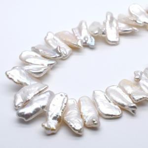 淡水パール びわ 大粒 15~20mm 1粒 パーツ バロック 真珠 通常穴|yusa-jewelry