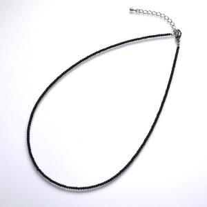 SALE ブラックスピネルネックレス アジャスター付き 金属アレルギー非対応 ポイント消化|yusa-jewelry