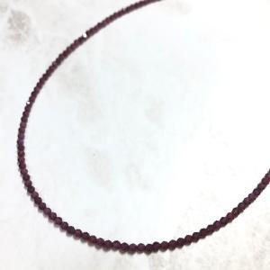 SALE ガーネットネックレス アジャスト機能付き 金属アレルギー非対応 1月の誕生石 ポイント消化|yusa-jewelry