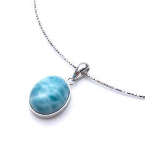 ラリマー SV925 ネックレス 金属アレルギー対応 形状記憶|yusa-jewelry