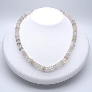 SALE 水晶ネックレス アジャスター付き 金属アレルギー非対応 送料無料 ポイント消化|yusa-jewelry